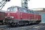 """Krupp 4047 - DB """"216 004-2"""" 07.05.1977 - Gelsenkirchen-Bismarck, BahnbetriebswerkKarl Gräfen † (Archiv Andreas Kabelitz)"""